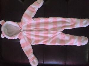 6-12 month car seat safe fleece suit