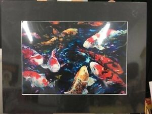 Koi fishes ( art print with matt border)  $35 ONO Mornington Clarence Area Preview