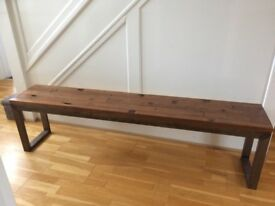 Wooden bench/industrial style