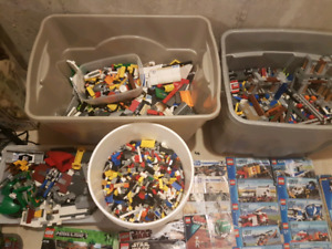 Huge lego lot 80+lbs.  Stack of instructions.