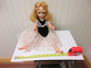 Vintage Teenage Doll rubber head, plastic body, rooted hair