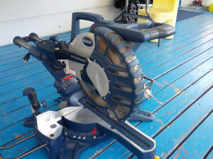 """10"""" Sliding Compound Miter Saw, Table Saw, Circular Saw, Stand"""