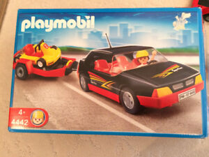 Playmobil car with go-cart