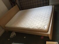 Large Double Bed & mattres(used)