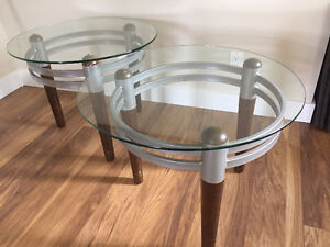 Glass end tables $35 OBO