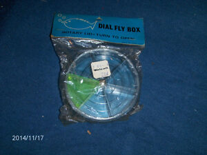 VINTAGE DIAL FLY BOX-UNOPENED-FISHING TACKLE-HONG KONG-1960S