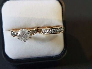 Ladies Diamond Engagement Ring and Band - Incredible Price!!!