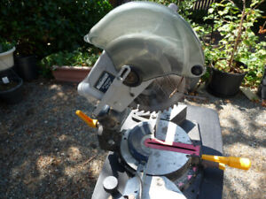 "MITER SAW WITH 10"" CARBIDE TIPPED BLADE"