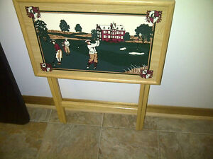Quality Hand-Painted Golf Theme TV Table
