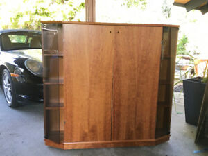 Teak Corner Entertainment Cabinet