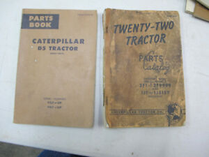 Vintage Caterpillar D5 Tractor , 22 Tractor Parts Manuals