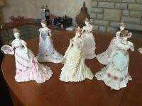 6 Royal Worcester figurines made for Compton & Woodhouse