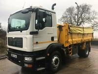 2008 MAN TG-M 18.240 steel insulated tipper, tar chutes, sheet, 240kms