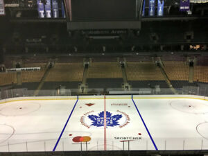 Leafs vs FLORIDA PANTHERS THURSDAY GREENS Sct 309 row 1