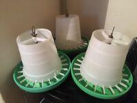3 chicken feeders