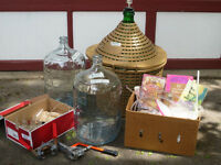 Wine making equipment & glass carboys