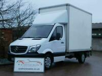 MERCEDES SPRINTER BOX VAN WITH TAIL LIFT LUTON 2015 F/S/H A/C. VW CRAFTER VGC