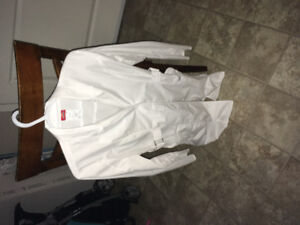 Stylish Laboratory Coat White Medium