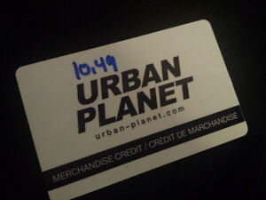 Urban planet merchandise credit gift card