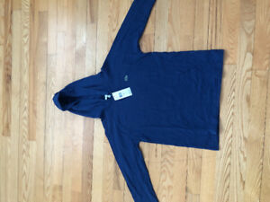 Lacoste long sleeve hooded shirt ( brand new with tags