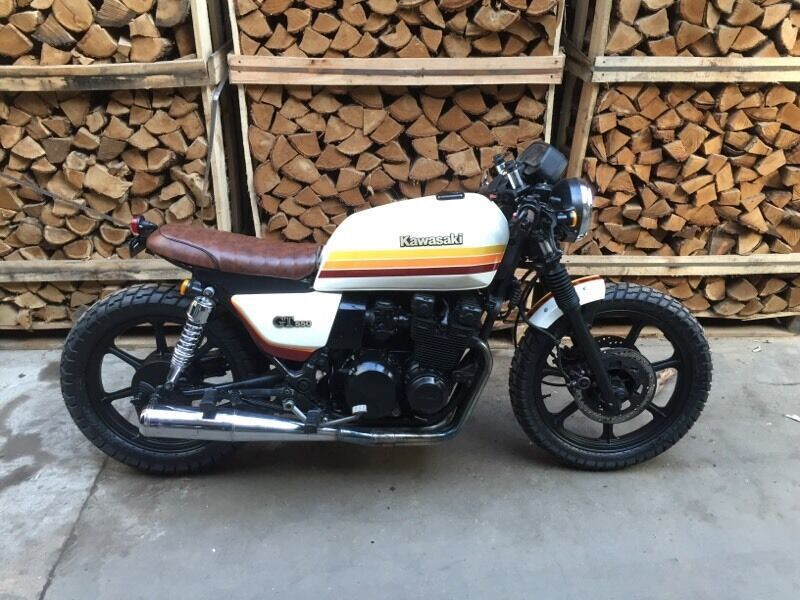 Kawasaki GT 550 Cafe Racer Retro Brat Bike