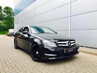 2011 61 reg Mercedes-Benz C220 2.1 CDI AMG Sport Coupe Black + SAT NAV +BIG SPEC