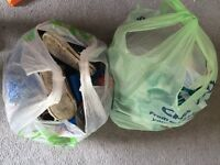 2 bags of toddler boys shoes and boots