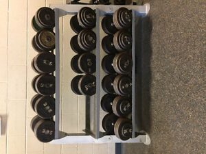 SOLD!!-Free weight Dumbbells