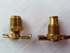 """11 Brass Butterfly Relief or Bleed Valves 1/4 NPT, ½"""" O.D."""