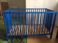 Ikea cot - blue