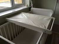John Lewis Cot Top Changer and Changing Mat
