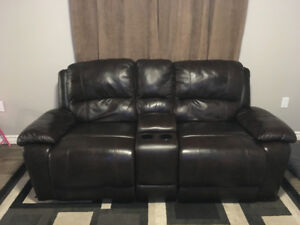Excellent Condition Leather Recling Sofa