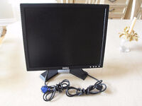 Dell 17 LCD Monitor with VGA cable - excellent condition $30
