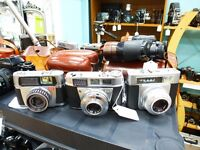 Cameras -ALL TYPES- 35MM, 120, 1/4 PLATE, SLR, FOLDING, RANGEFINDER, BOX, POLAROID, LEICA, NIKON