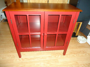 Red Cabinet - $ 200.00 or best offer - Mint!  (902) 717-2093