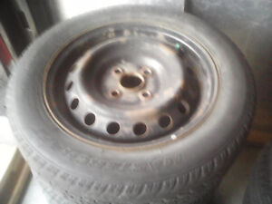 Snow tire rims for sale $80 or best offer Kitchener / Waterloo Kitchener Area image 1