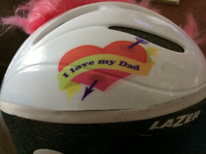 Sold Ppu-Toddler bike helmet with pink  Mohawk