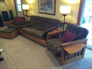 Wooden futon