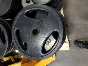 COMMERCIAL RUBBER COATED OLYMPIC PLATES-USED