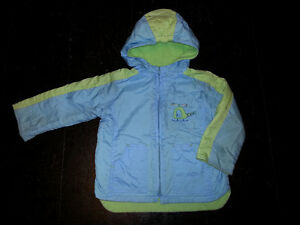 lovely blue winter jacket for 2 to 4 year old