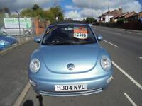 VOLKSWAGEN BEETLE 1.9 TDI 2DR...CONVERTABLE, 2004 (04 PLATE)..