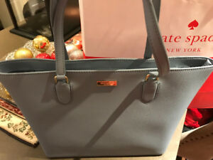 Kate Spade - baby blue leather tote - brand new