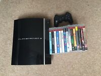 Playstation 3 80GB, 15 games and 1 controller