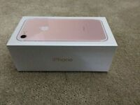 iphone 7.brand new.rose gold.32gb