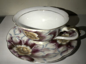 Hand Painted Shafford Floral Chintz Cup & Saucer