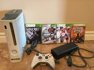 Xbox 360 Console (Controller and Games)