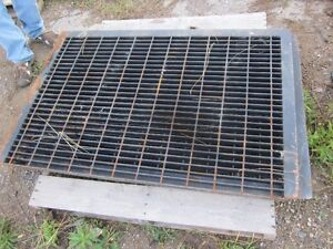 "Heavy Metal Floor Grate - Indoor/Outdoor 51"" x 34"" x 3/16"" thick"