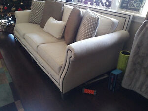 Custom made couch and lounge chair for sale
