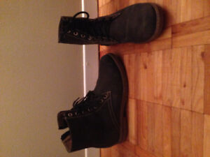 Leather Combat Boots- womens