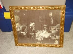 Framed Antique Print